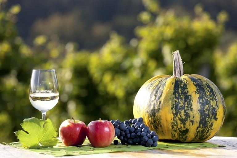 Apfel Kürbis Wein