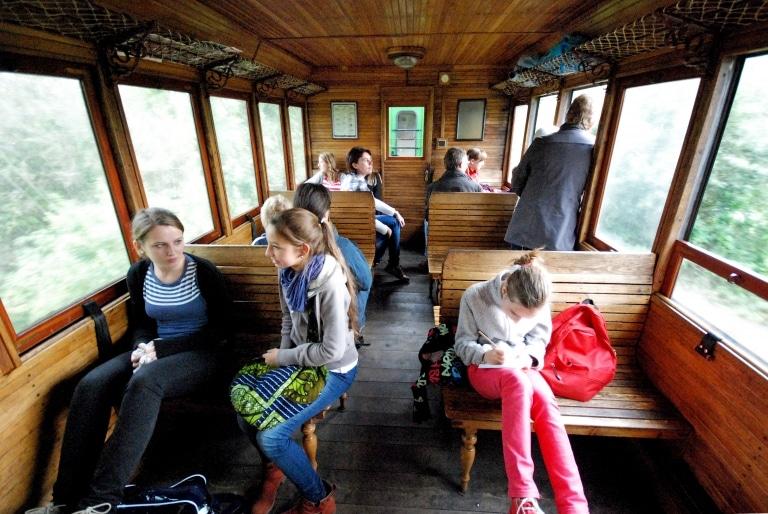 Feistritztalbahn Wagon Innen