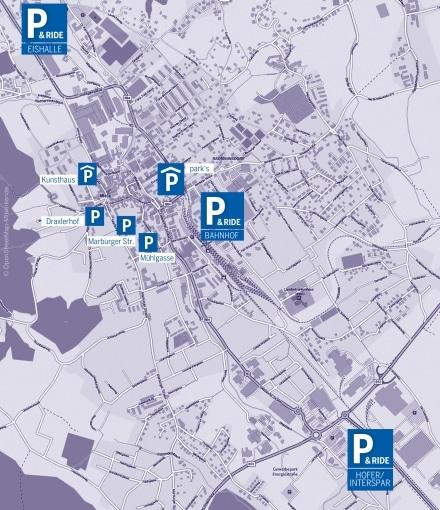 Karte Parken Weiz