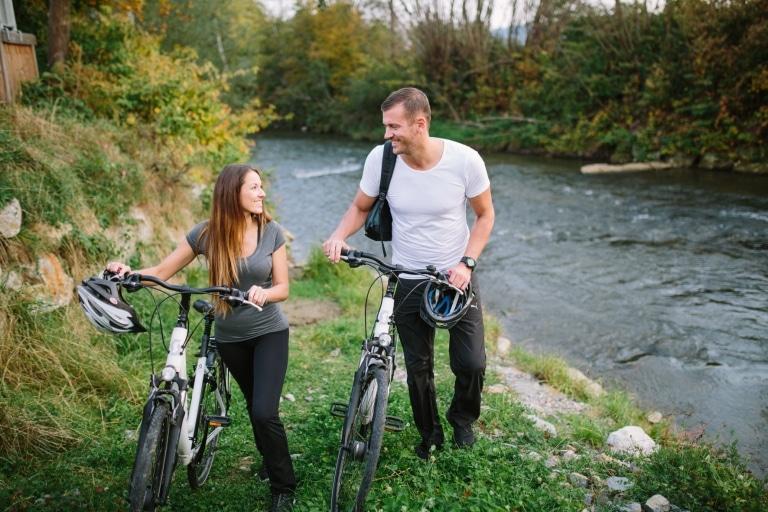 St. Ruprecht an der Raab Radfahren Raab Pause am Fluss