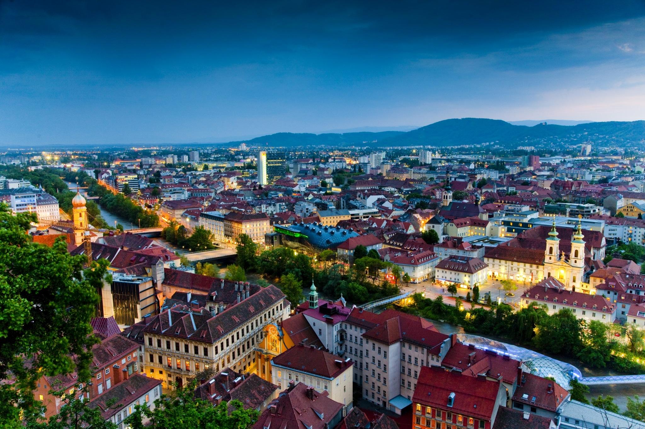 Dachlandschaft, Graz