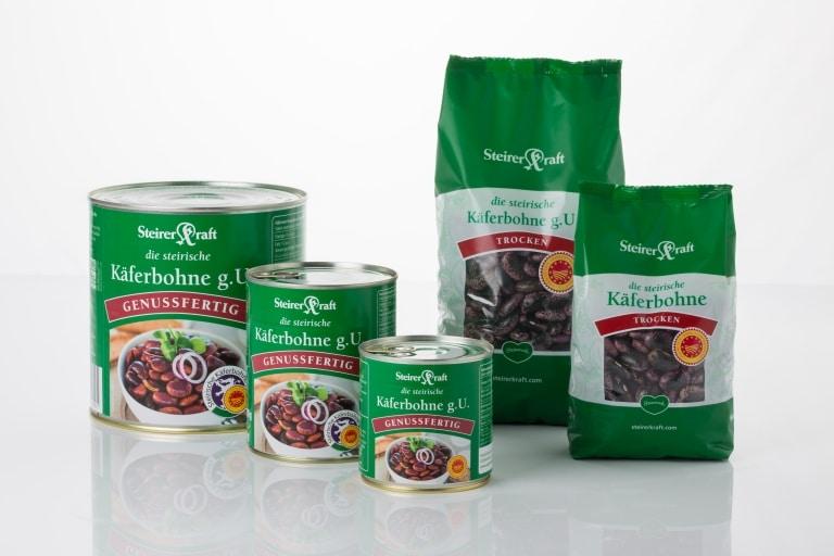fertige Käferbohnenprodukte