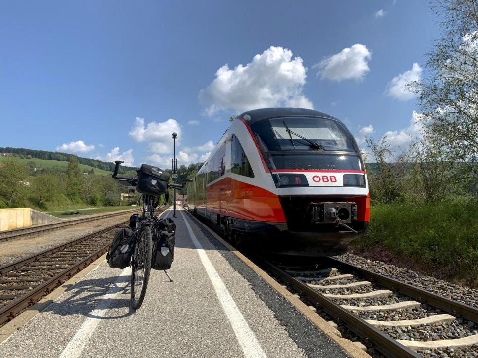Radfahren Zug