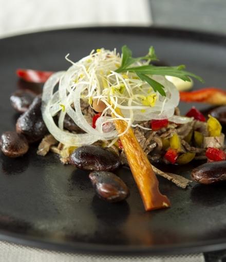 Rindfleisch mit Käferbohnen
