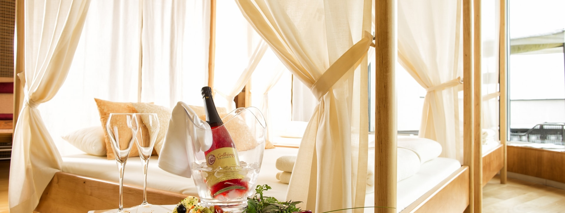 Romantik im Garten-Hotel Ochensberger