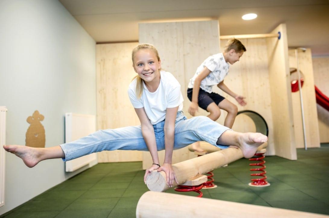 Sie sehen ein Foto vom Kinderspielbereich im Jufa Hotel Weiz