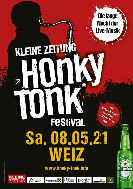 Ein Plakat von der Veranstaltung Honky Tonk 2021